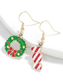 Fashion Candy And Garland Alloy Drip Oil Candy Wreath Earrings
