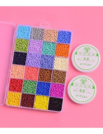 Fashion Color Mixing Small Hole Beads Plastic Round Beads Contrast Color Accessories
