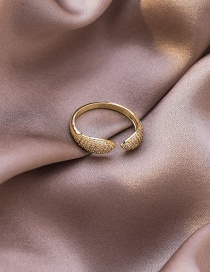 Fashion Gold Coloren Snake-shaped Micro-inlaid Zircon Open Ring