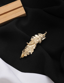 Fashion Gold Coloren Feather Alloy Hair Clip