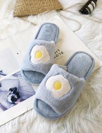 Fashion Poached Egg Fruit Plush Open-toe Non-slip Sandals And Slippers