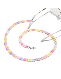 Fashion Color Resin Chain Contrast Glasses Chain