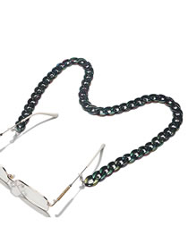 Fashion Black Color Acrylic Thick Chain Hollow Glasses Chain