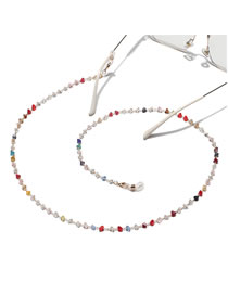 Fashion Color Triangular Crystal Handmade Beaded Glasses Chain