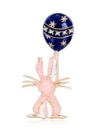 Fashion Color Oil Drop Opal Balloon Diamond Brooch