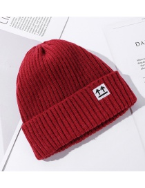 Fashion Red Solid Color Luminous Arrow Mark Knitted Woolen Hat