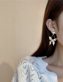 Fashion Gold Color Butterfly Alloy Earrings