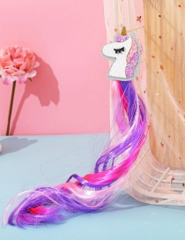 Fashion Unicorn White Butterfly Animal Contrast Color Childrens Wig Braids