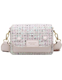 Fashion Beige Wide Shoulder Strap Sequined One-shoulder Crossbody Bag