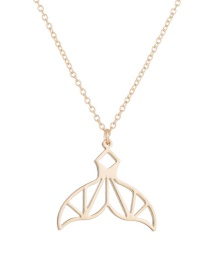 Fashion Environmentally Friendly Alloy-gold Hollow Mermaid Tail Stainless Steel Alloy Necklace
