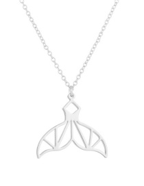 Fashion Stainless Steel-steel Color Hollow Mermaid Tail Stainless Steel Alloy Necklace