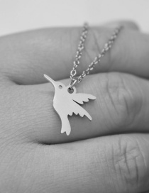 Fashion Steel Color Little Swallow Stainless Steel Hollow Necklace
