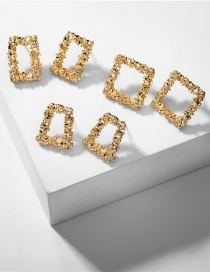 Fashion Gold Color Alloy Geometric Earring Set