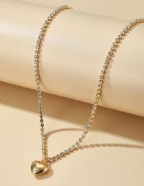 Fashion Golden Claw Chain Diamond Alloy Heart Pendant Necklace