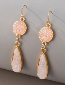 Fashion White Shell Resin Imitation Natural Stone Alloy Earrings