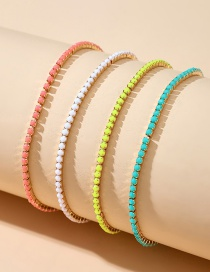 Fashion Color Mixing Rice Beads Beaded Alloy Multilayer Bracelet