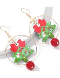 Fashion Ring Christmas Tree Ring Resin Christmas Tree Earrings