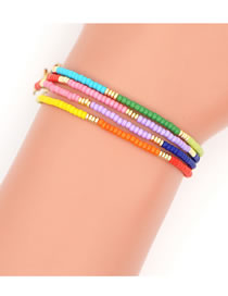 Fashion Color Mixing Rice Beads Beaded Multifunctional Glasses Chain