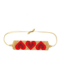 Fashion Love Red Hand-woven Love Shell Bracelet