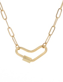Fashion Gold Color Copper Love Necklace
