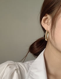 Fashion Gold Color Brass Irregular Round Earrings