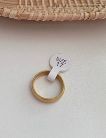 Fashion Trumpet (copper Ring) Cross Glossy Gold Plated Ring