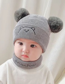 Fashion Green 6 Months-4 Years Old Knitted Woolen Frog Children Hat