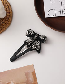 Fashion Type B Rhinestone Butterfly Combined With Blonde Clip
