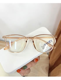 Fashion Champagne Transparent Rice Nail Geometric Flat Glasses