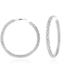 Fashion Silver Color Alloy Geometric Round Earrings