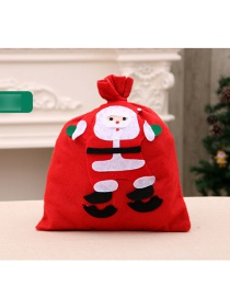 Fashion Small 20*30cm (random Pattern) Santa Backpack Non-woven Fabric Handmade Applique Gift Bag