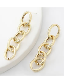 Fashion Gold Color Alloy Chain Hollow Earrings