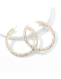 Fashion 6 Gold Claw Chain Alloy Diamond Earrings