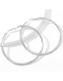 Fashion No. 7 Silver Color Claw Chain Alloy Diamond Earrings