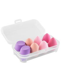 Fashion 8 Cells Beauty Egg Plastic Egg Container