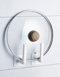 Fashion Single Price-white Kitchen Roll Paper Cup Lid Free Perforated Wall Hook