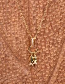 The Wisher Hooks Collar Con Colgante De Pez Doble