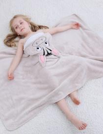Fashion Khaki Zebra Bath Towel Hooded Frog Zebra Children Coral Fleece Bath Towel