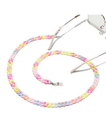 Fashion Color Resin Acrylic Contrast Thick Chain Glasses Chain