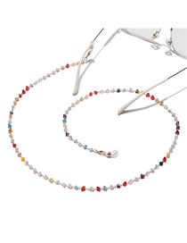 Fashion Color Triangle Crystal Beaded Handmade Glasses Chain
