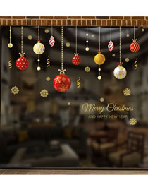 Fashion Snowball Christmas Scene Decoration Glass Window Stickers