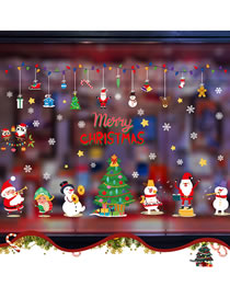 Fashion Christmas Snowman Christmas Scene Decoration Glass Window Stickers