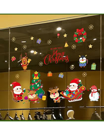 Fashion Christmas Gift Christmas Window Glass Doors And Windows Office Decoration Wall Stickers