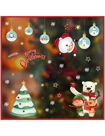 Fashion Polar Bear Christmas Window Glass Doors And Windows Office Decoration Wall Stickers
