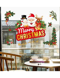 Fashion Elk Christmas Window Glass Doors And Windows Office Decoration Wall Stickers