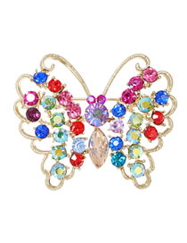 Fashion Butterfly Alloy Diamond Insect Butterfly Pin