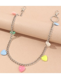 Fashion Color Mixing Love Resin Alloy Pendant Waist Chain