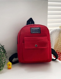 Fashion 19 Inch Two Red Canvas Bunny Elephant Stitching Contrast Backpack