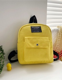 Fashion 16 Inch Two Yellow Canvas Bunny Elephant Stitching Contrast Backpack