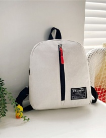 Fashion 16 Inch Three White Canvas Bunny Elephant Stitching Contrast Backpack